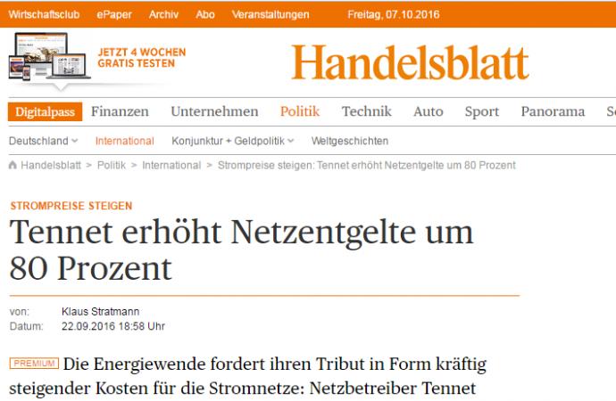 Nödåtgärder krävs för stabila tyska elnät