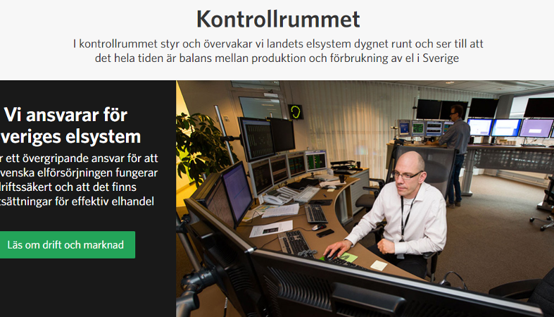Dramatik i Svenska kraftnäts kontrollrum