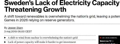 Elbrist uppmärksammas av Bloomberg