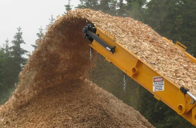 Rester från skogsbruk har ersatt olja, kol och naturgas