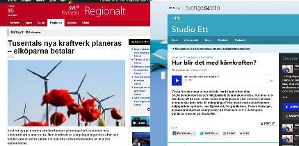 Granskningsnämnden fäller SVT-inslag om vindkraft och friar SR om kärnkraft