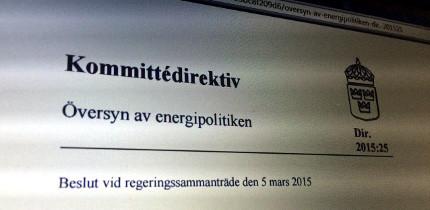 Frågetecken för om energikommissionen kommer att ägna sig åt skatter